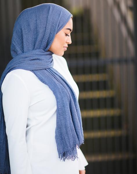 Daily Hijab Denim Blue