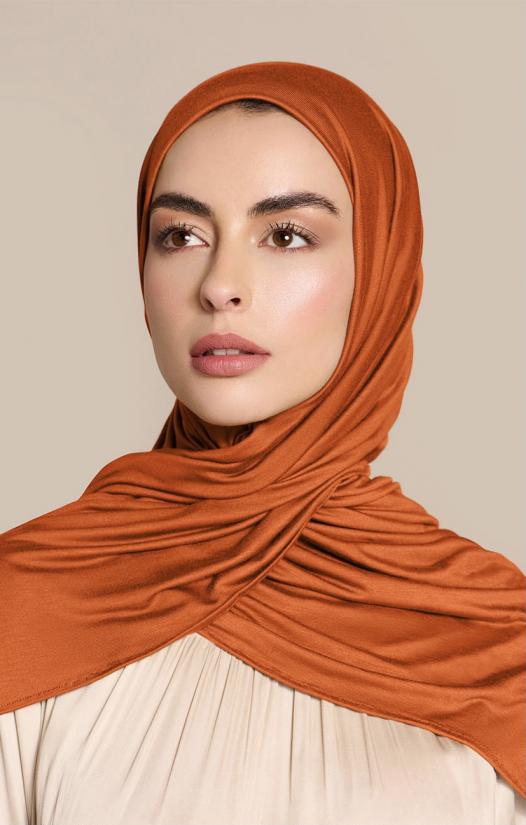 Instant Premium Jersey Hijab Bronze