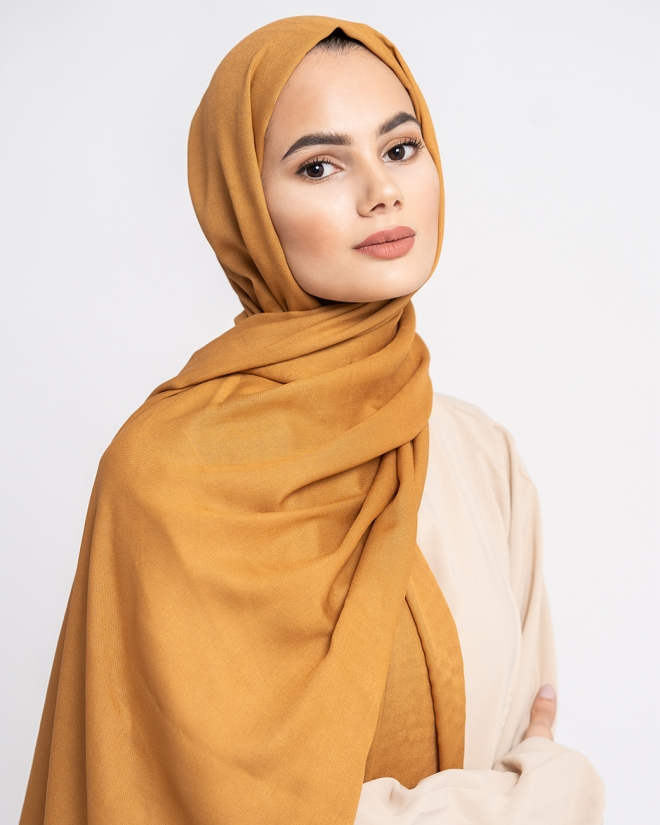 COTTON MODAL HIJAB - TOPAZE