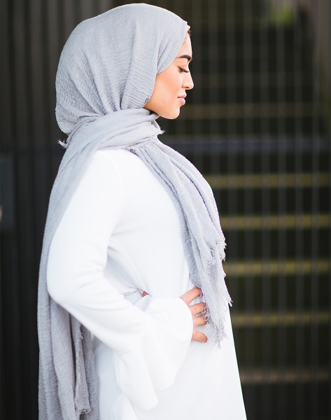 Daily Hijab Light Grey