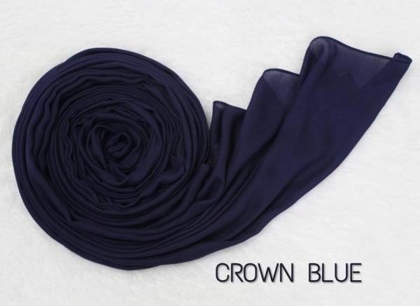 COTTON MODAL HIJAB - CROWN BLUE