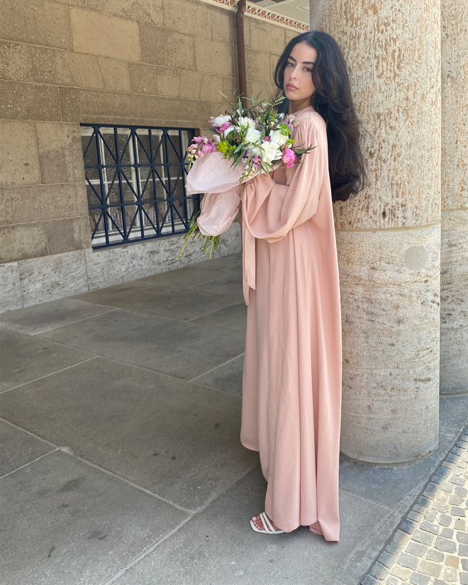 Lady Abaya in Rose LIMITED COLLECTION