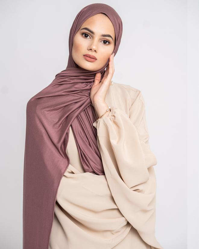 Instant Premium Jersey Hijab Mauve