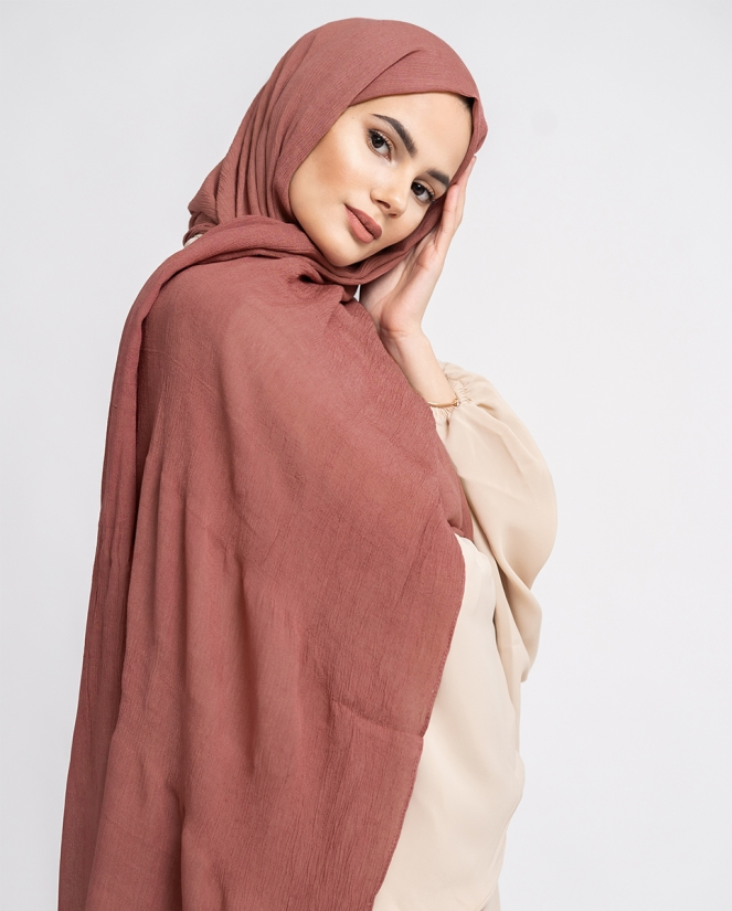 CRINKLE HIJAB- MOCCA MOUSSE