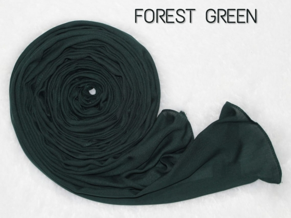 COTTON MODAL HIJAB - FOREST GREEN