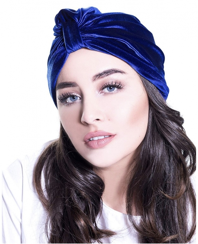 Turban Blau Samt