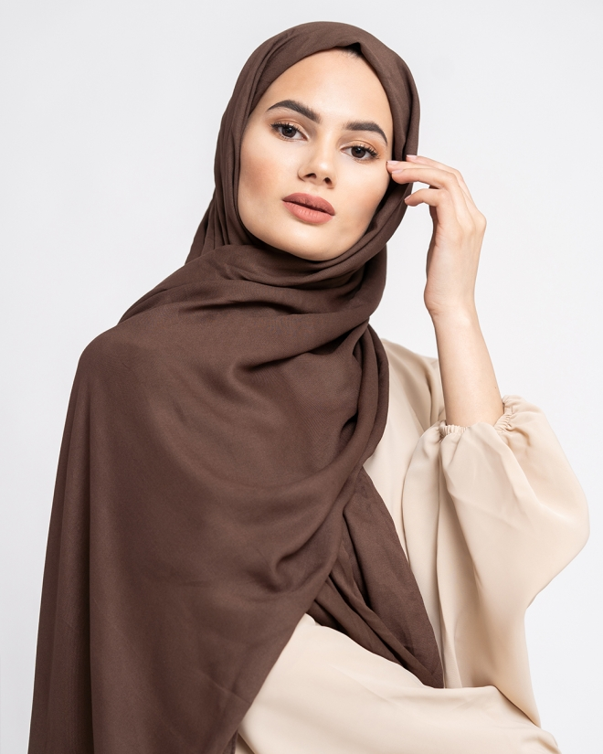 COTTON MODAL HIJAB - CHOCOLATE