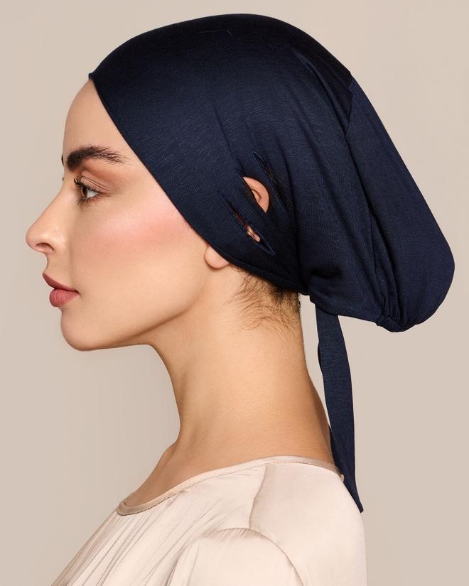Untertuch Unterkopftuch Hijab Bone Navy