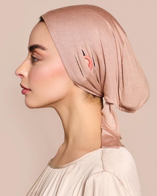 Under head scarf Free Bone Soft Rose