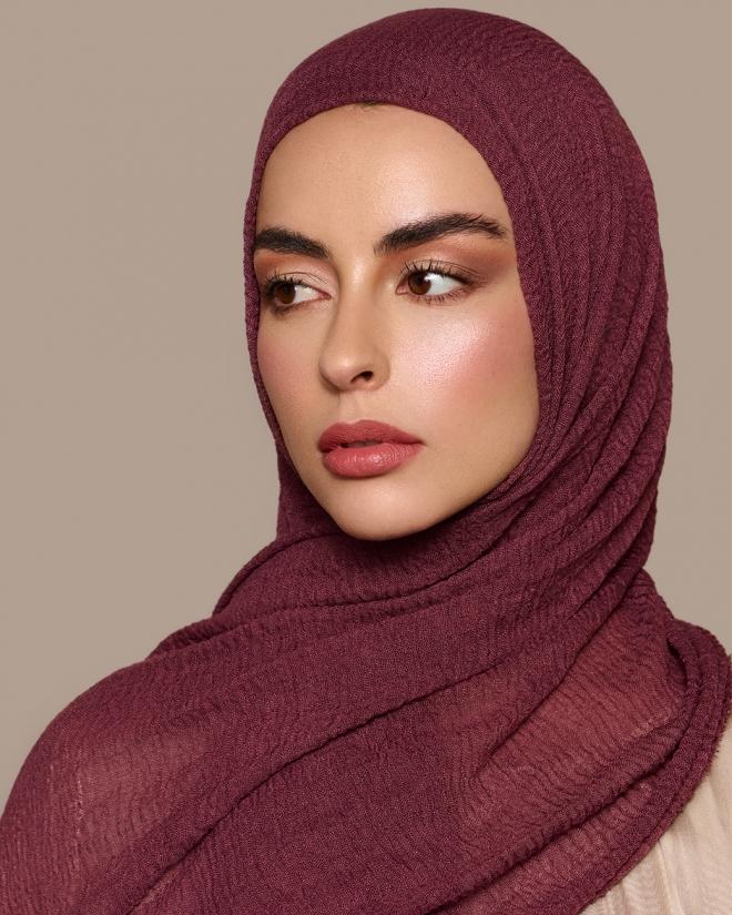 Daily Hijab Plum