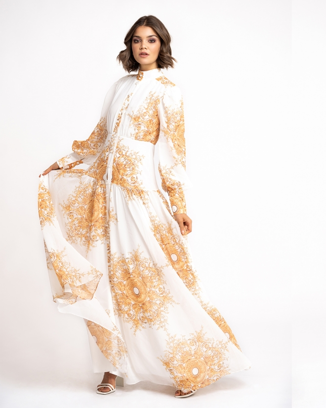 Kleid mit Vintage Print