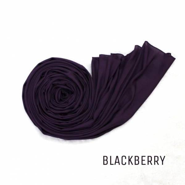 COTTON MODAL HIJAB - BLACKBERRY